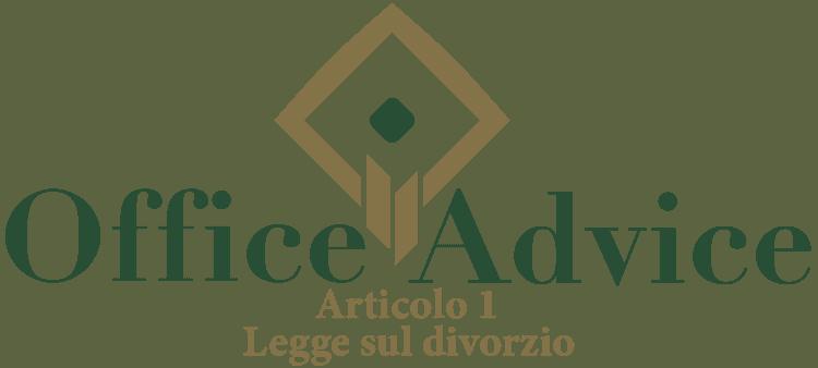 Art. 1 - Legge sul divorzio
