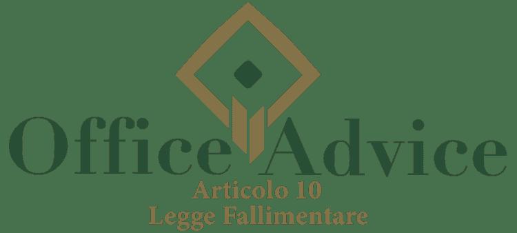 Articolo 10 - Legge fallimentare