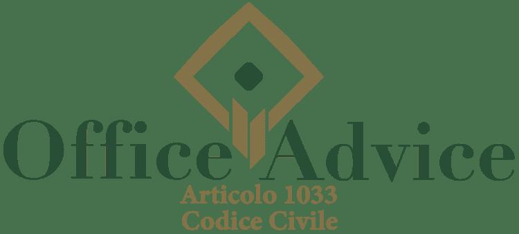 Articolo 1033 - Codice Civile