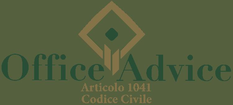 Articolo 1041 - Codice Civile