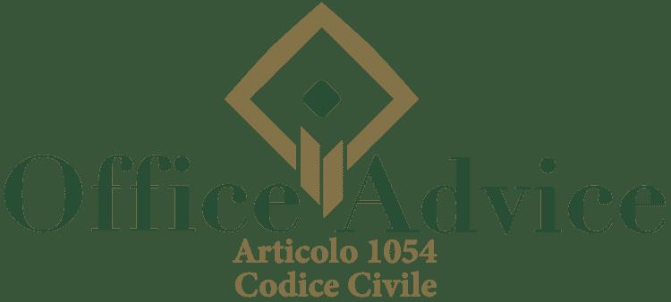 Articolo 1054 - Codice Civile