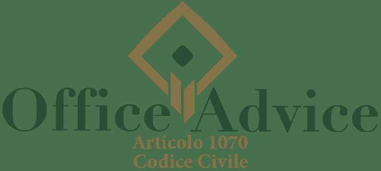 Articolo 1070 - Codice Civile