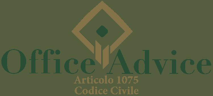 Articolo 1075 - Codice Civile