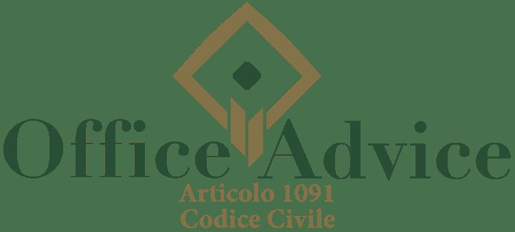 Articolo 1091 - Codice Civile
