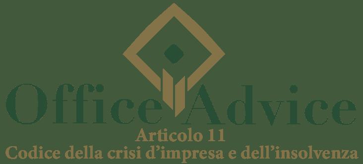 Art. 11 - Codice della crisi d'impresa e dell'insolvenza