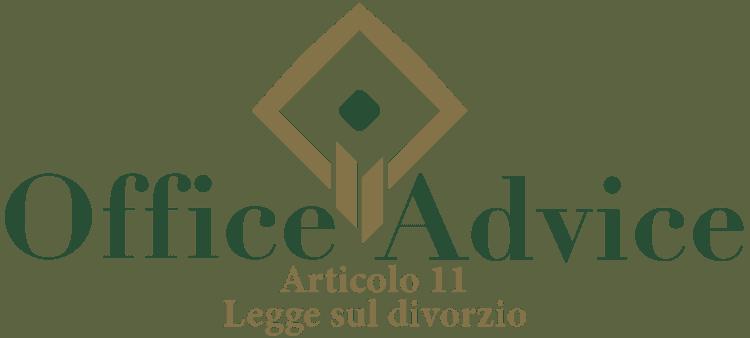 Articolo 11 - Legge sul divorzio