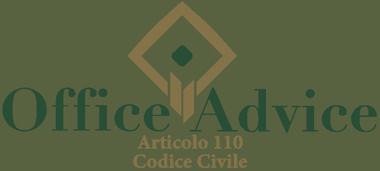 Articolo 110 - Codice Civile