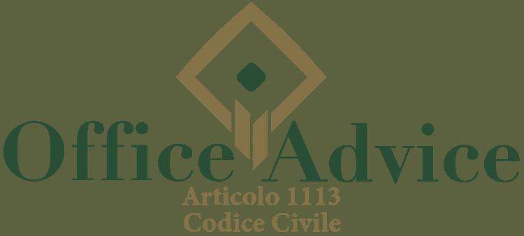 Articolo 1113 - Codice Civile