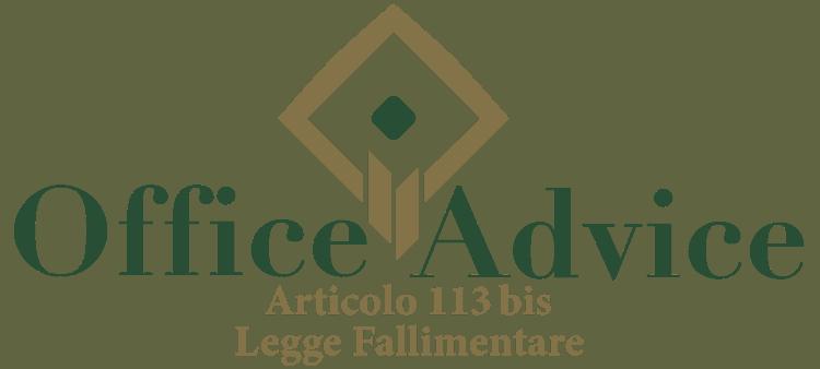 Articolo 113 bis - Legge fallimentare