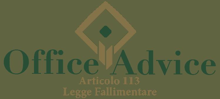 Articolo 113 - Legge fallimentare