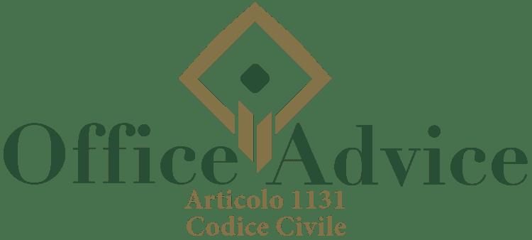 Articolo 1131 - Codice Civile