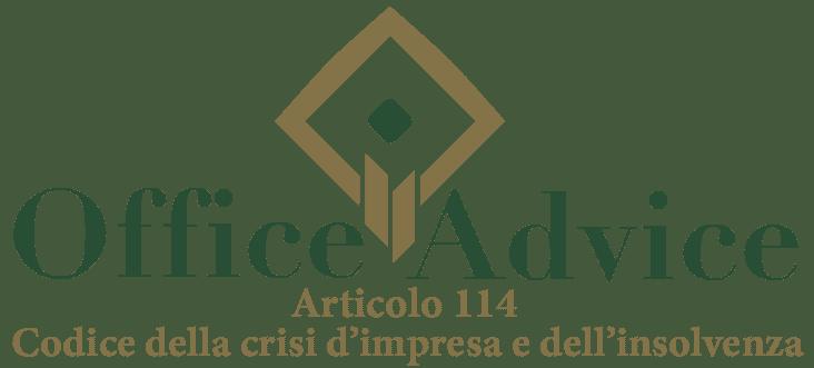 Art. 114 - Codice della crisi d'impresa e dell'insolvenza