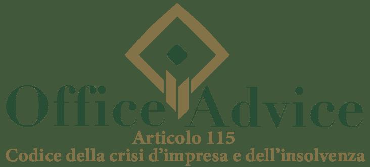 Art. 115 - Codice della crisi d'impresa e dell'insolvenza