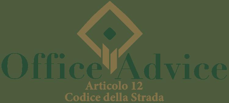 Articolo 12 - Codice della Strada