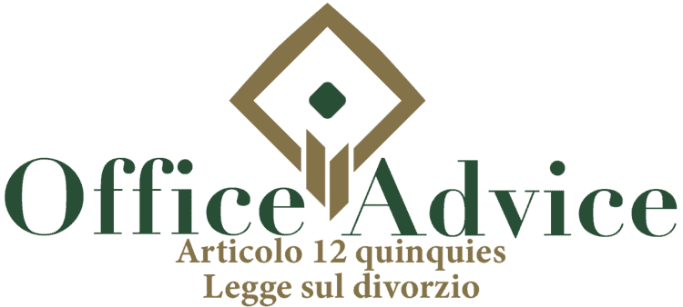 Articolo 12 quinquies - Legge sul divorzio