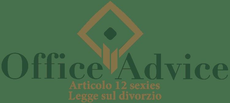 Articolo 12 sexies - Legge sul divorzio