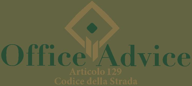 Articolo 129 - Codice della Strada