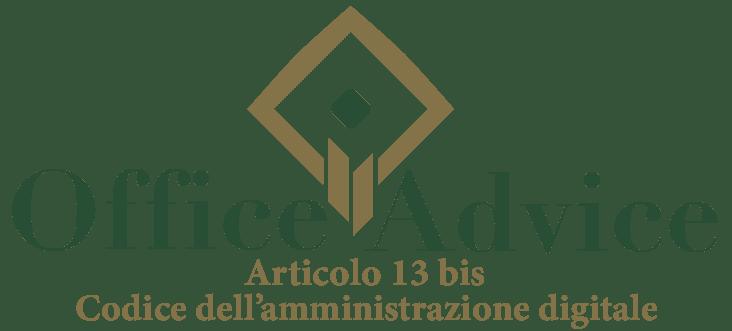 Art. 13 bis - Codice dell'amministrazione digitale