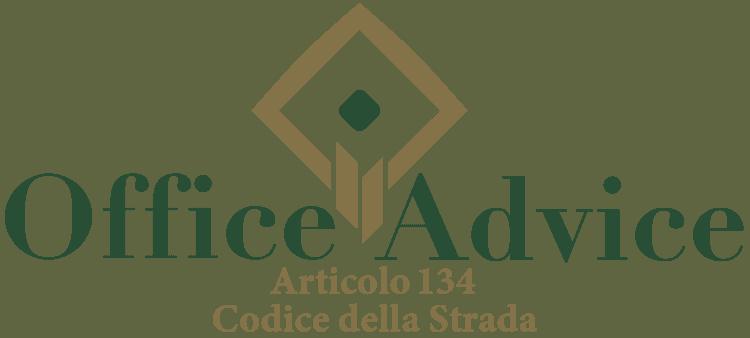 Articolo 134 - Codice della Strada