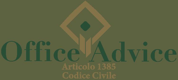 Articolo 1385 - Codice Civile
