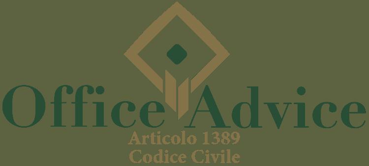 Articolo 1389 - Codice Civile