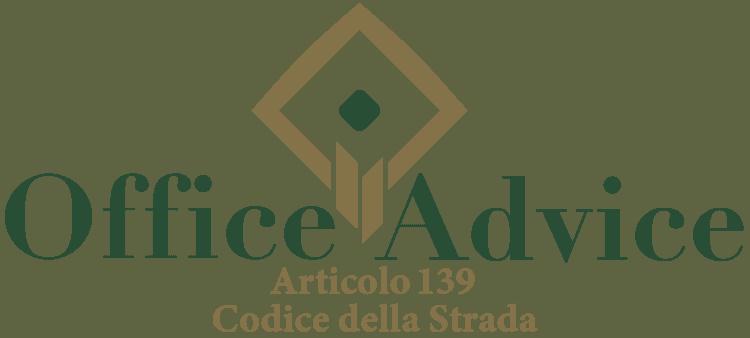 Articolo 139 - Codice della Strada