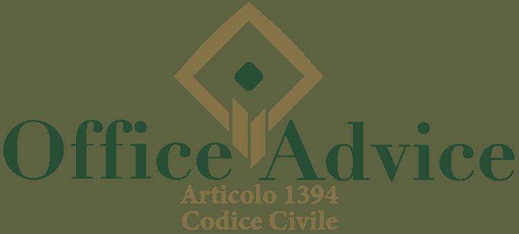 Articolo 1394 - Codice Civile