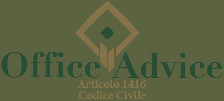 Articolo 1416 - Codice Civile