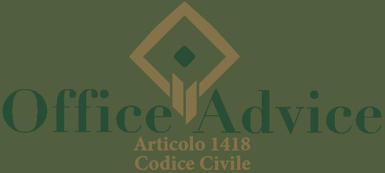 Articolo 1418 - Codice Civile