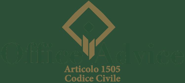 Articolo 1505 - Codice Civile