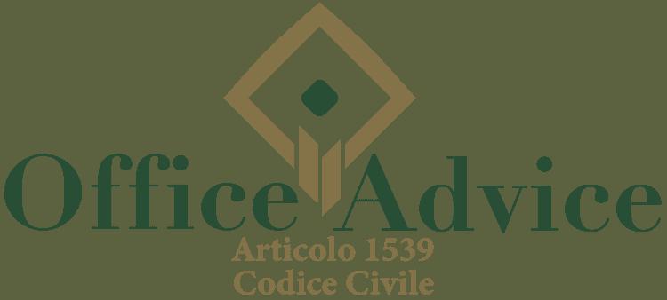 Articolo 1539 - Codice Civile