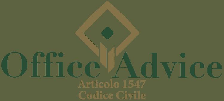 Articolo 1547 - Codice Civile