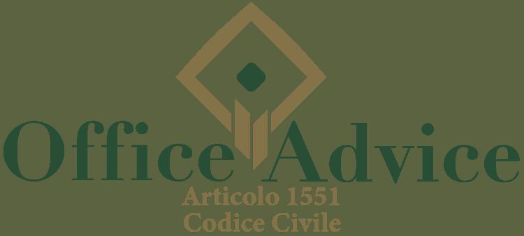 Articolo 1551 - Codice Civile