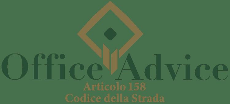 Articolo 158 - Codice della Strada