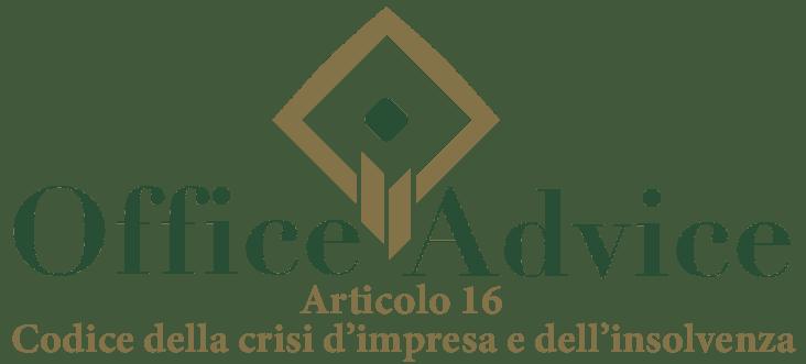 Art. 16 - Codice della crisi d'impresa e dell'insolvenza