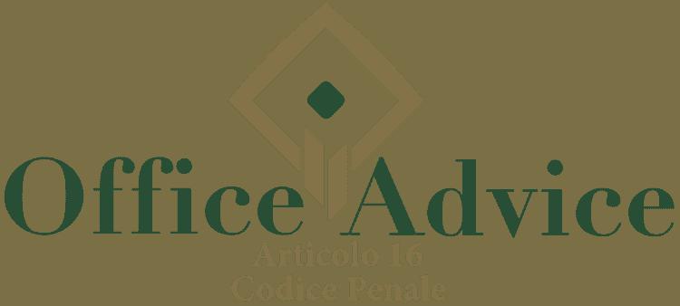 Articolo 16 - Codice Penale