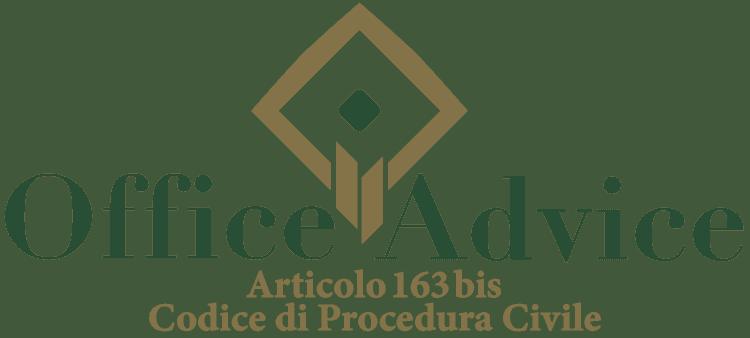 Articolo 163 bis - Codice di Procedura Civile