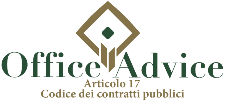 Articolo 17 - Codice dei Contratti Pubblici (Nuovo Codice degli Appalti)