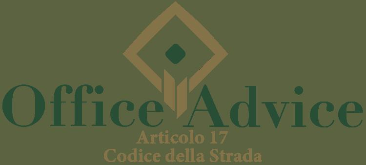 Articolo 17 - Codice della Strada
