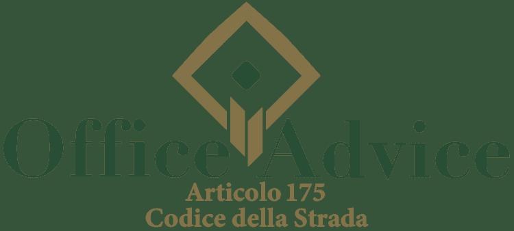 Articolo 175 - Codice della Strada