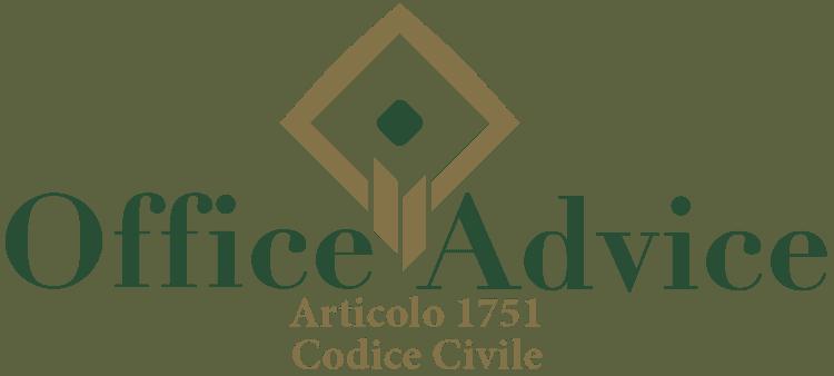 Articolo 1751 - Codice Civile