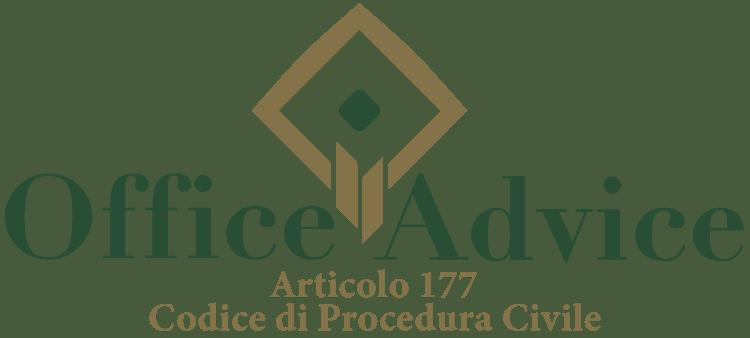 Articolo 177 - Codice di Procedura Civile