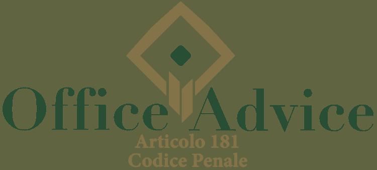 Articolo 181 - Codice Penale