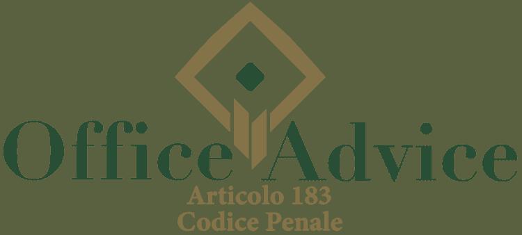 Articolo 183 - Codice Penale