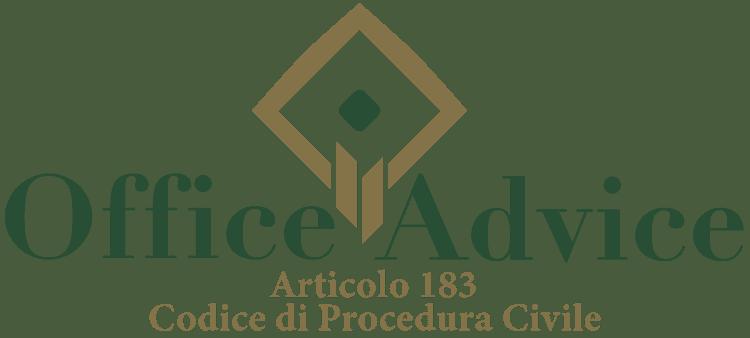Articolo 183 - Codice di Procedura Civile
