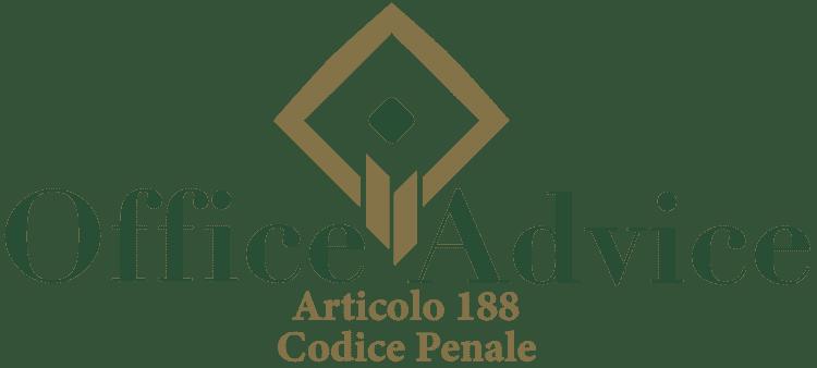 Articolo 188 - Codice Penale