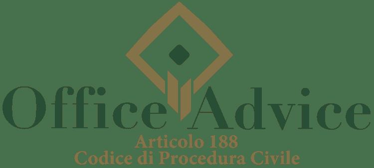 Articolo 188 - Codice di Procedura Civile