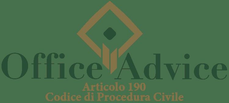 Articolo 190 - Codice di Procedura Civile
