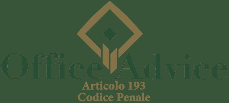 Articolo 193 - Codice Penale