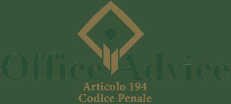 Articolo 194 - Codice Penale